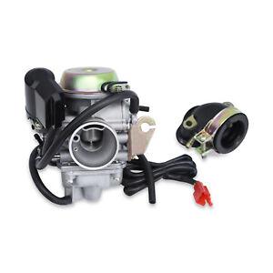 Details about New 24mm Kinroad 150cc 150 Carburetor & Intake Manifold Buggy  Go Kart cart Carb