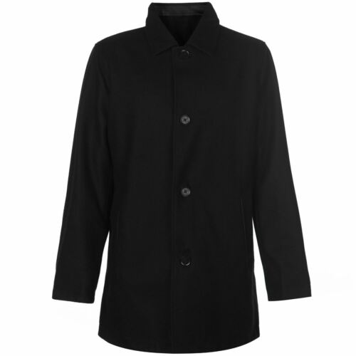 Cole Haan Mens Reversible Wool Jacket Rain Coat Top Fold Down Collar