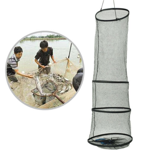 4Layer Collapsible Fishing Basket Dip Net Fishing Cage Fishing Accessories To Hg