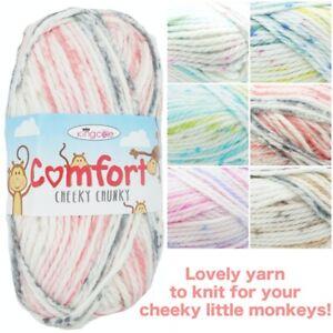 King-Cole-COMFORT-Cheeky-Chunky-Soft-Acrylic-Mix-Knitting-Crochet-Yarn-Wool-100g