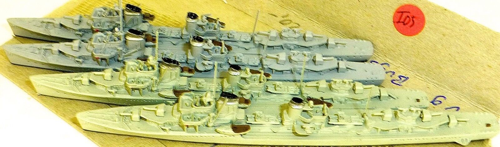 4 Pezzo Z 1-4 Cacciatorpediniere Neptun 1065 Modello Barca 1:1250 SHPI05 Å