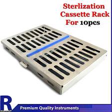 Dental Autoclave Sterilization Cassette Rack Box Tray For 10 Instrument Ce