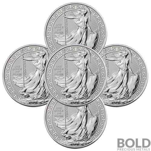 5 Coins 2018 .999 1 oz Silver Great Britain Britannia Oriental Borders Capsule