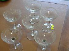 6 coupes à champagne en verre hauteur 12 cm - en parfait état -