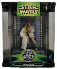 Star Wars Silver Anniversary 1977-2002 Luke & Leia Swing To Freedom NIB Hasbro