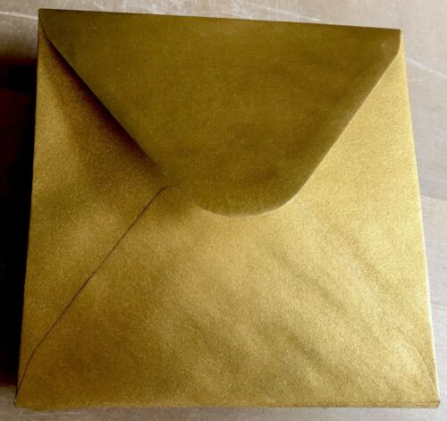 Enveloppes grand carré DE LUXE OR 170 x 170 mm 1 Sample Enveloppe