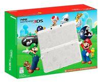 Nintendo 3ds Super Mario World White Edition Handheld Console Faceplate
