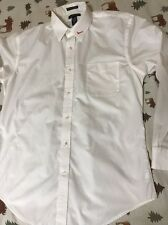 Lands End Men's Size 16x33 Long Sleeve Button Up White Dress Shirt Verizon Unifo