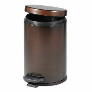 Oil Rubbed Bronze Touchless Trash Can Step On Wastebasket