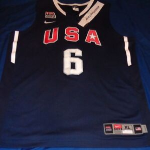 Details about Lebron James #6 Dream Team Basketball USA Nike Jersey XL Adult 2010 Authentic