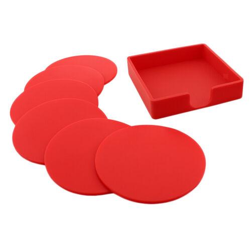 7 stücke Silikon Tischset Untersetzer Kissen Becherhalter Tee Tasse Pad
