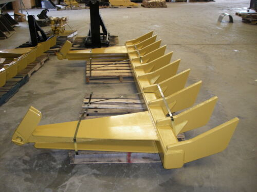 "dozer blade root rake, 126"" wide, 1575 lbs AR400 steel NEW, USA Attachments"