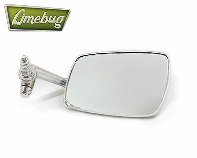 VW T1 Right Beetle Wing Mirror Chrome 67-79 Late Style Black Trim Bug Classic