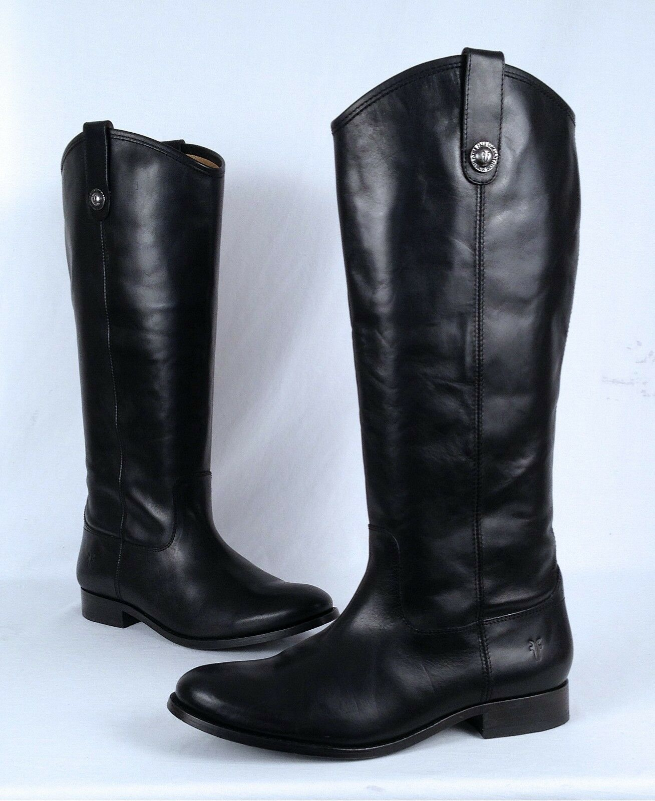 NEW!! Frye 'Melissa' Button Boot- Black Calf- Size 9.5 B   (B28)