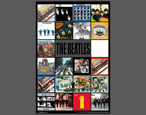 Image Is Loading The Beatles All 22 Lp Al Covers Poster