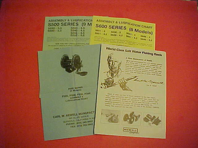4 ORIGINAL NEWELL ASSEMBLY AND LUBRICATION CHARTS  WITH SCHEMATICS, VERY RARE  discount sale
