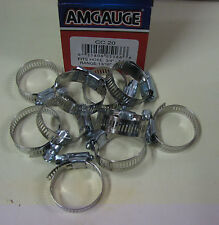 """STAINLESS STEEL BAND HOSE CLAMP 1/2""""-1-1/4"""" AMGAUGE #20 CLAMPS 10 PIECES"""