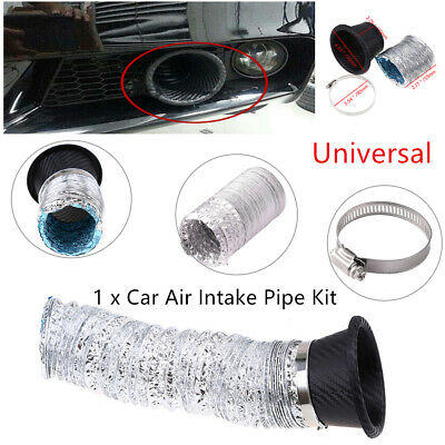 Car Air Funnel Modified  Bumper Air Intake Turbo Turbine Inlet Pipe Funnel Kit