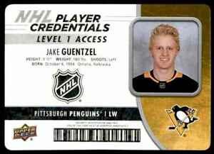 2018-19-Upper-Deck-MVP-NHL-Player-Credentials-Level-1-Access-Jake-Guentzel