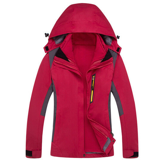 Herren Ski Jacket Snowboard D111 rot Snow Waterproof Breathable S M L XL XXL