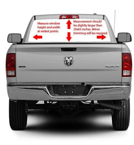 Rear Window Graphic AMERICAN FLAG WITH EAGLE Decal Truck Suv