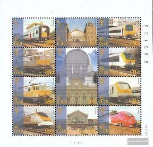 Belgien-E-Kleinbogen1-2001-kompl-Ausg-postfrisch-2001-Eisenbahnmarke-Privatau