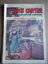 Nick Carter Il Grande poliziotto americano Anni 40 n°66 ed. NERBINI  [G369]
