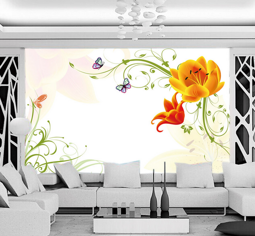 3D Inflorescence Vines Paint Paper Wall Print Wall Decal Wall Deco Indoor Murals