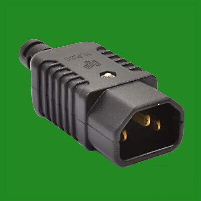 100% Wahr 3 Pin Iec Männlich Kessel Sockel Wiederanschließbar C14 Gerade Stecker Adapter