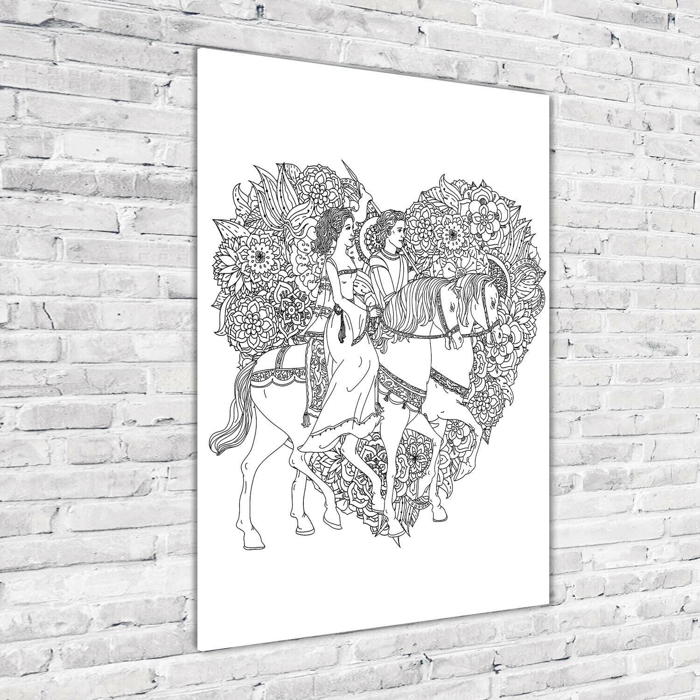 Wand-Bild Kunstdruck aus Acryl-Glas Hochformat 70x100 Frau und Mann