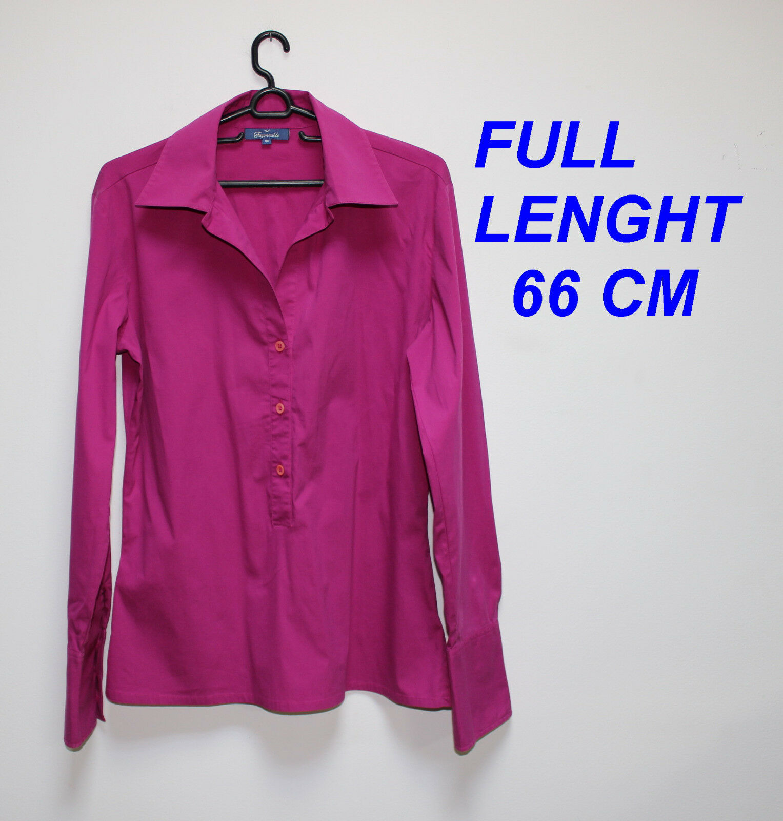 FACONNABLE LADIES WOMAN TOP SHIRT PINK OR PURPLE MARKED SIZE 38 BUTTON FRONT