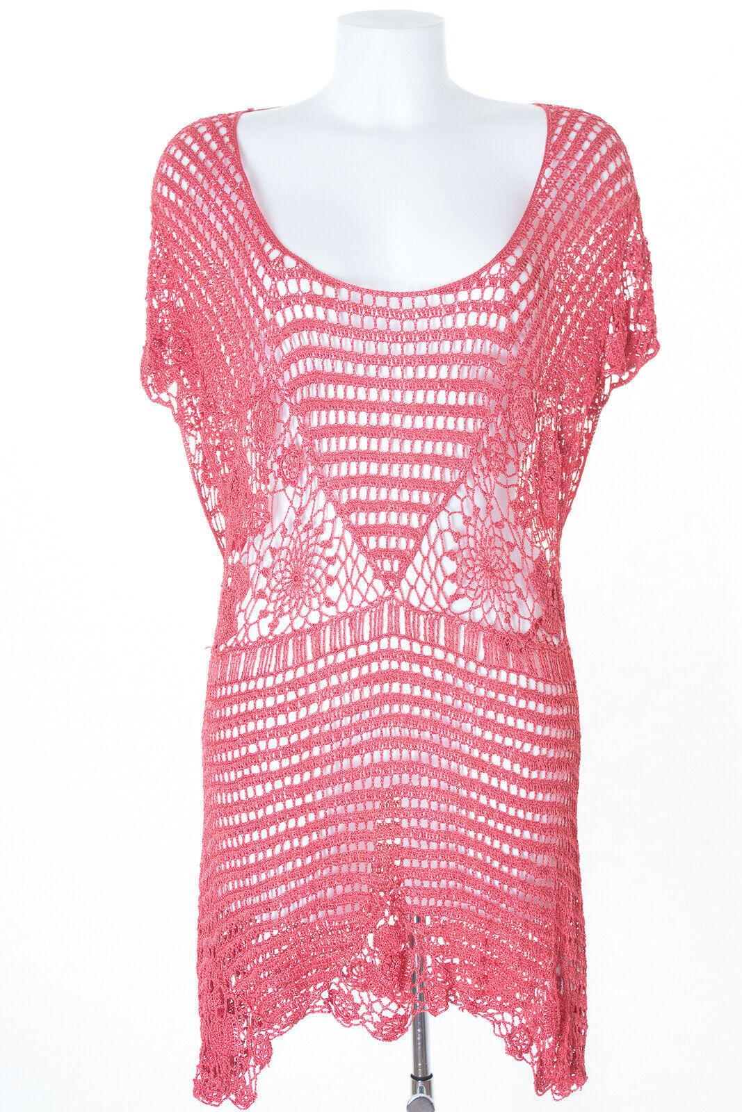 NICOWA Blause Blouse Shirt Knit Viskose Damen Gr. DE 42 in Rot