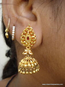 Image Is Loading Vintage 20k Gold Earrings Dangle Ethnic Tribal Old