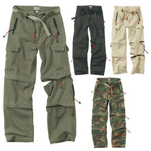 SURPLUS-CARGO-TREKKING-HOSE-OUTDOOR-VINTAGE-TROUSERS-ZIP-OFF-PANT-Walk-Shorts