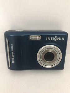 Insignia-NS-DSC10B-10MP-Megapixel-Digital-Camara-Azul-3x-Zoom-optico-Probado