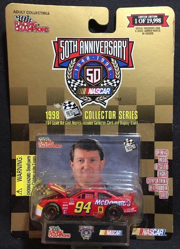Racing Champions 50th Anniversary Bill Elliott 1 64 Diecast New 1998