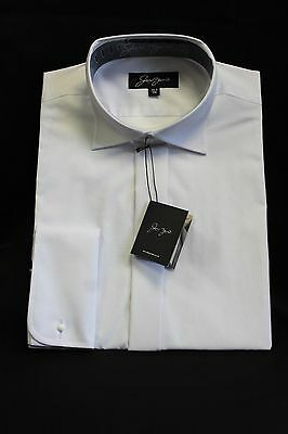 Men's Double Cuff White Victorian Wing Collar Shirts Niedriger Preis