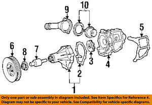 MERCEDES OEM 98-99 E300 3.0L-L6 Water Pump-Housing 6052010101