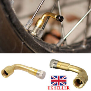 2-x90-Degree-Angle-Tyre-Valve-Tube-Extension-Adapter-Motorcycle-Motorbike-Car-UK