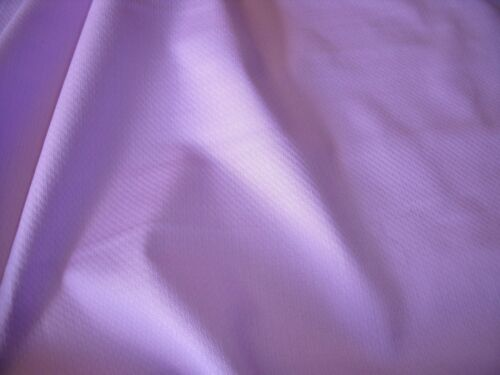 UK ONLY STRETCH COTTON PIQUE LILAC-DRESS FABRIC-FREE P/&P