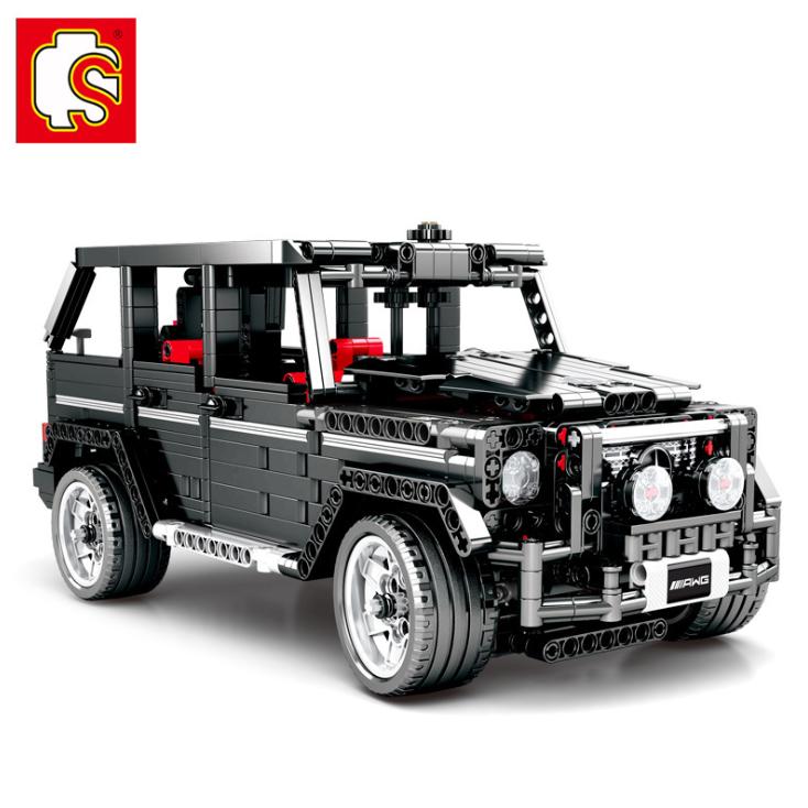 Baukästen Microblock Geländerwagen G-Klasse G500 Blocksteine Blocks Sets 1343CS