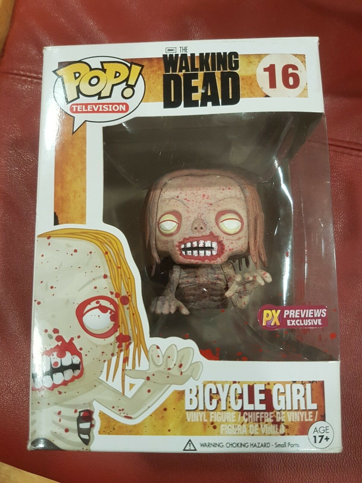 Fußgänger Dead Funko POP PX Previews Exclusive Bicycle Girl Bloody  16