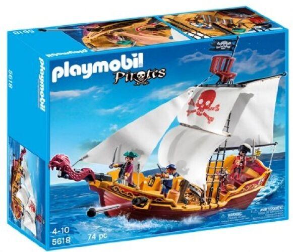 PLAYMOBIL Red Serpent Pirate Ship boat Model boys Birthday Gift