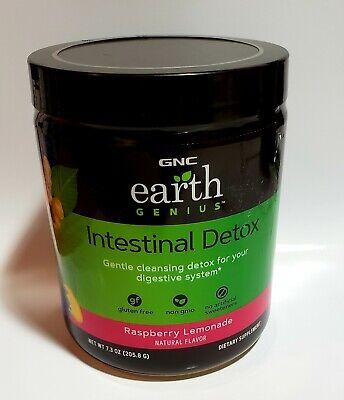 Gnc Earth Genius Intestinal Detox Raspberry Lemonade Exp 02 21