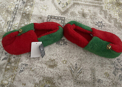 FESTIVE CHRISTMAS ELF HIGH QUALITY LUXURIOUS SLIPPERS WITH BELL