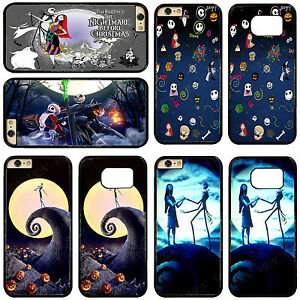 Nightmare-Before-Christmas-PC-Rubber-Hybrid-Phone-Case-Cover-For-iPhone-Samsung