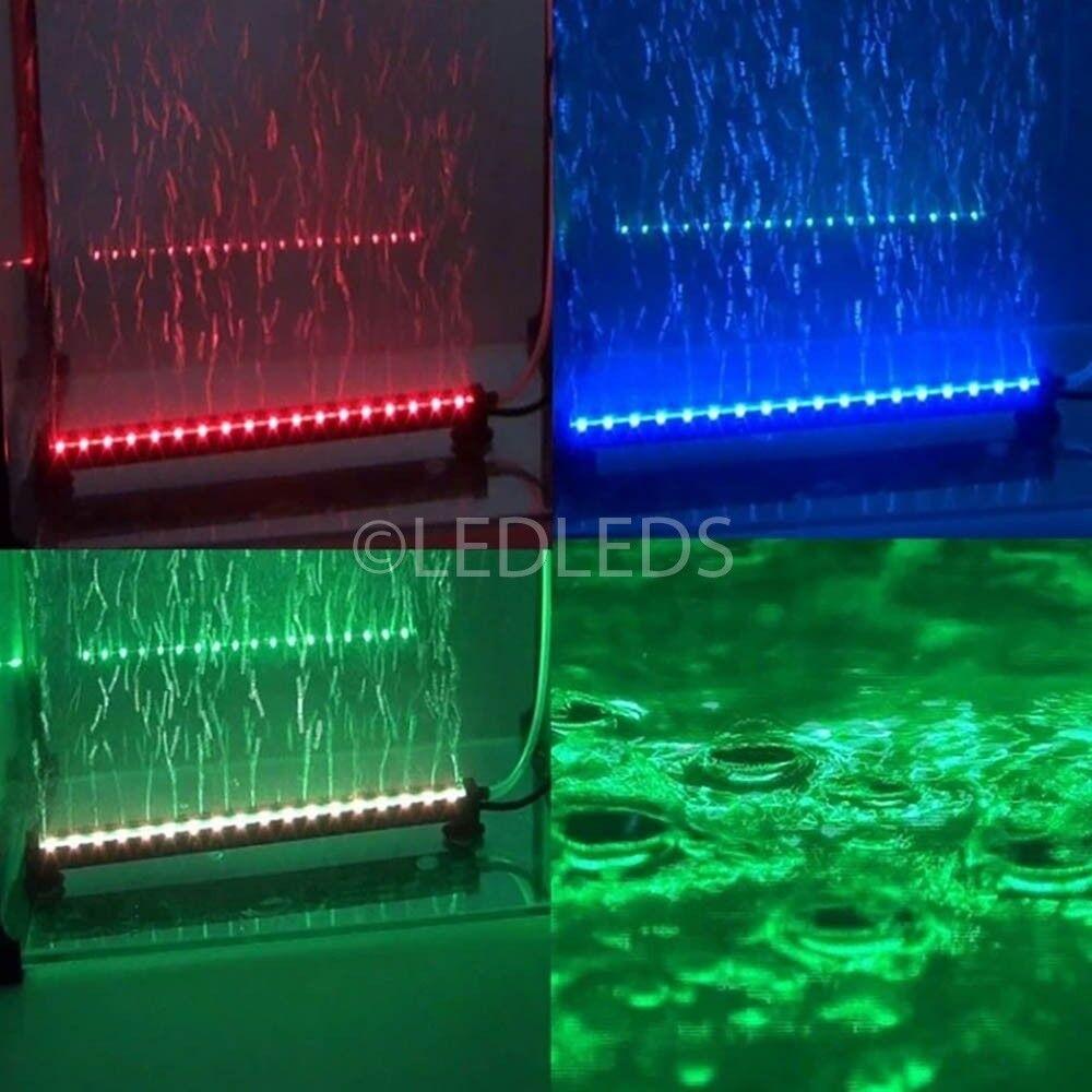 TUBO NEON ACQUARIO 10 LED RGB LUCE CAMBIO COLORE 1WATT 25CM LUCI PESCI LAMPADA