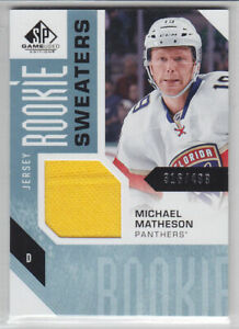 2016-17-UD-SPGU-MIKE-MATHESON-RC-JERSEY-499-ROOKIE-Sweater-SP-Game-Used-Panther