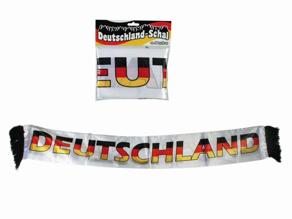 Bufanda Fan Alemania Copa Del Mundo de Fútbol Party whiteo Hombre black red gold