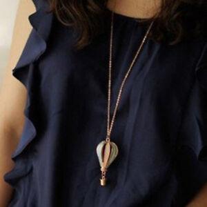 Women Gift Hollow Heart Bead Retro Long Pendant sweater Chain Necklace